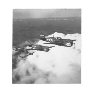Negro Pilots in Shark-Nosed P-40 Fighter Aircraft Memo Pads