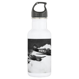 Negro Pilots in Shark-Nosed P-40 Fighter Aircraft 532 Ml Water Bottle