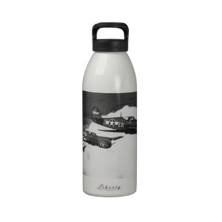 Negro Pilots in Shark-Nosed P-40 Fighter Aircraft Reusable Water Bottles