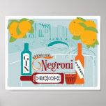 Negroni Citrus Cocktail Poster