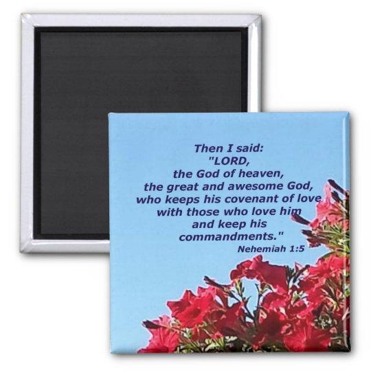 Nehemiah 1:5 magnet