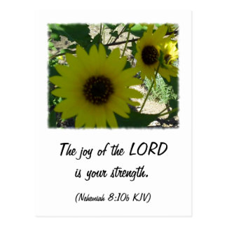 Nehemiah 8:10 postcard