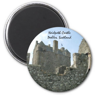 Neidpath Castle - Peebles, Scotland 6 Cm Round Magnet