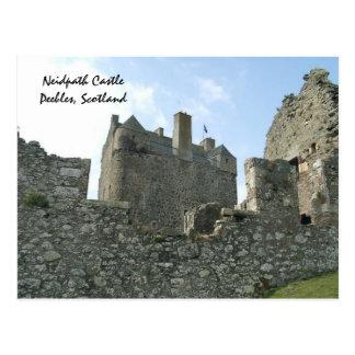 Neidpath Castle - Peebles, Scotland Postcard