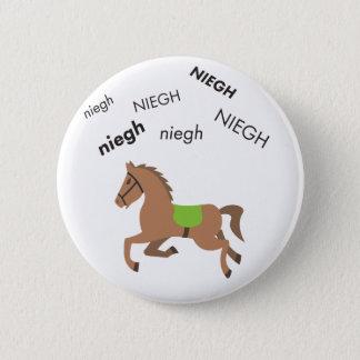Neigh Horse Cute Emoji 6 Cm Round Badge