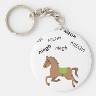 Neigh Horse Cute Emoji Key Ring