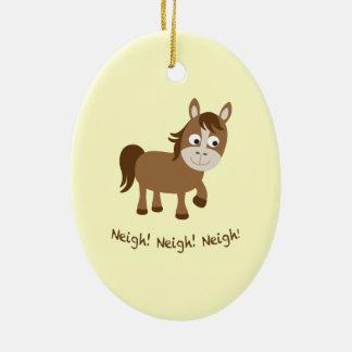 Neigh, Neigh, Neigh! Cute Horse Christmas Ornament
