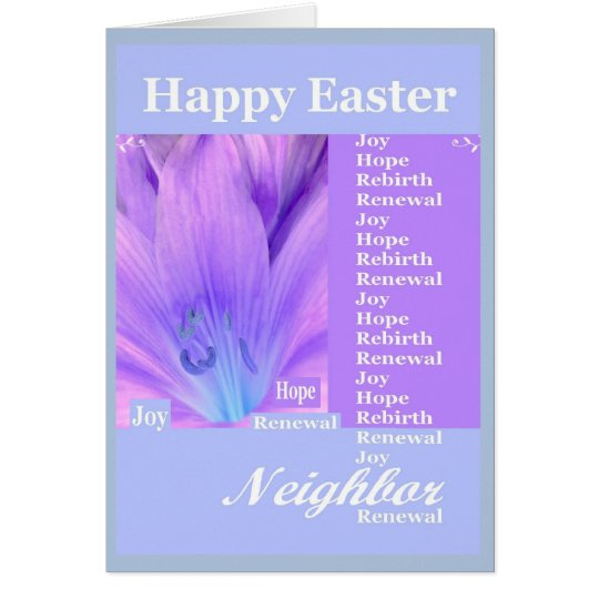 NEIGHBOR - Happy Easter with Lily Card