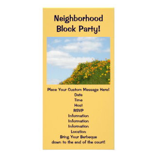 Neighborhood Block Party! Summer Parties Barbeques Picture Card