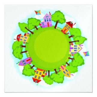 Neighborhood Event - SRF 13 Cm X 13 Cm Square Invitation Card
