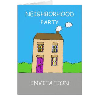 Neighborhood party Invitation. Card