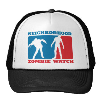 Neighborhood Zombie Watch - Red and Blue Cap