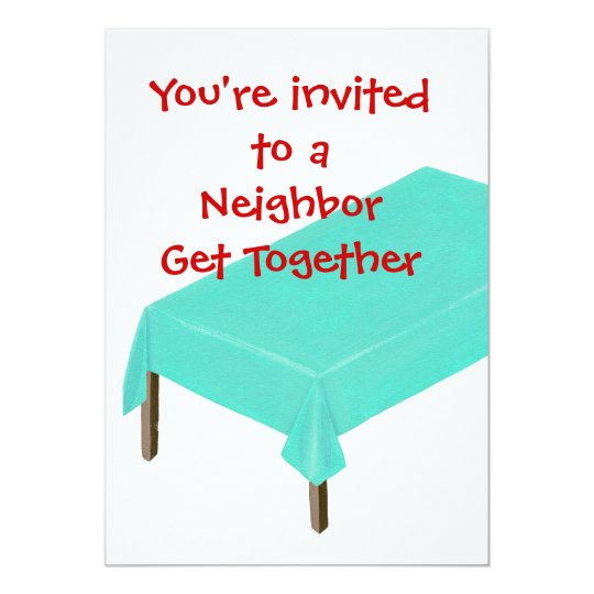 Neighbour Get Together Invitations, customise Card