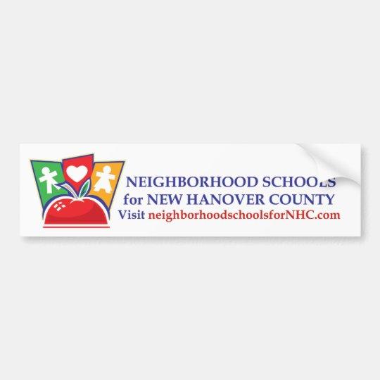 Neighbourhood Schools Bumper Sticker