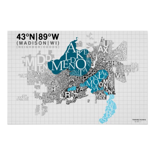 Neighbourhood Typography - Madison, WI Poster