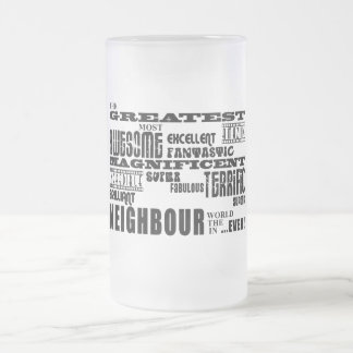 Neighbours : Greatest Neighbour Frosted Glass Beer Mug