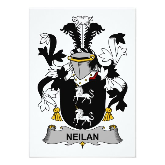 Neilan Family Crest Card