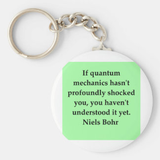 neils bohr quotation basic round button key ring