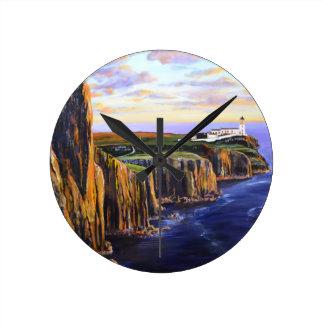 Neist Point - Isle of Skye Round Clock