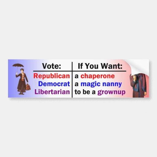 Neither Nanny nor Chaperone Car Bumper Sticker