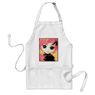 Neko Girl Candy Crafting Apron in Clean White Aprons