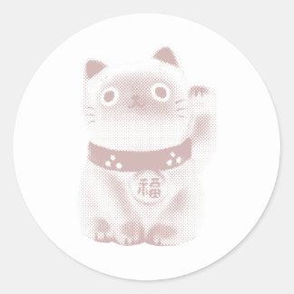 Neko Kitty Round Sticker