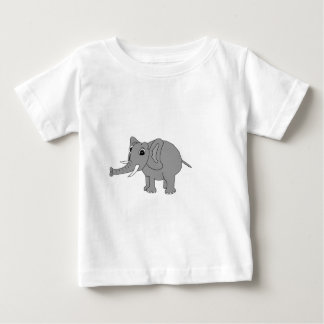 """""""Nellie"""" the elephant (black and white) Baby T-Shirt"""