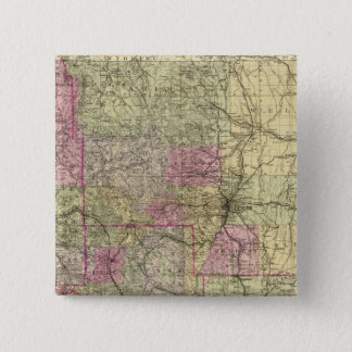 Nell's Topographical Map of Colorado 15 Cm Square Badge