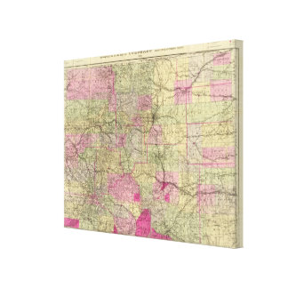 Nell's Topographical Map of Colorado Canvas Print