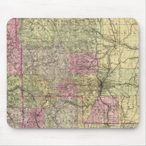 Nell's Topographical Map of Colorado Mousepads