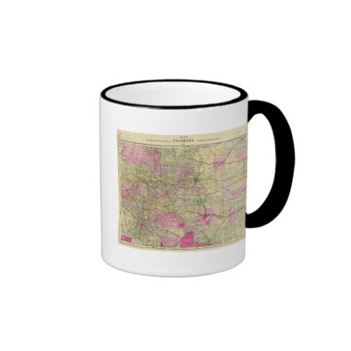 Nell's Topographical Map of Colorado Coffee Mug