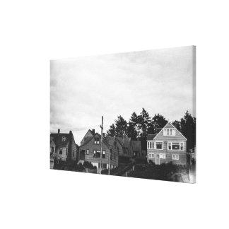 Nelscott, Oregon Cottages on Pacific Ocean Canvas Print