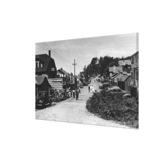 Nelscott, Oregon Town View Ocean Front Cottages Canvas Print
