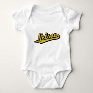 Nelson in Gold Baby Bodysuit