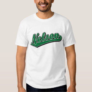 Nelson in Green Tee Shirts
