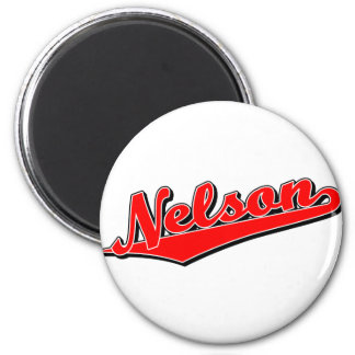 Nelson in Red 6 Cm Round Magnet