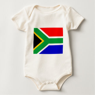 Nelson mandela south africa flag baby bodysuit