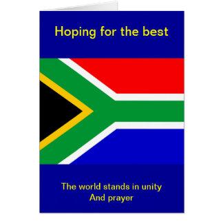 Nelson mandela south africa flag cards