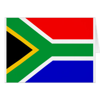 Nelson mandela south africa flag greeting card