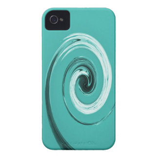 Nelson Twirl Light Blue iPhone 4 Covers
