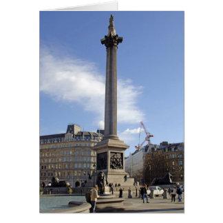 Nelson's Column London Card