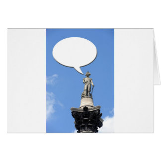 Nelson's Column speech bubble with space for text Greeting Card