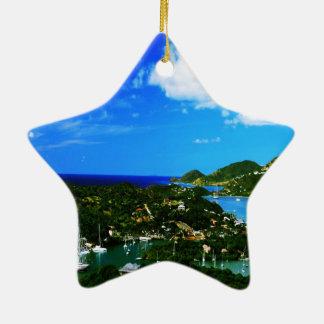 Nelson's Dockyard Ceramic Star Decoration