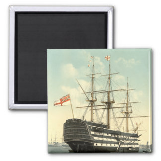 Nelson's HMS Victory Square Magnet