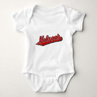 Nelson's in Red Baby Bodysuit