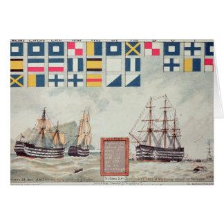 Nelson's signal at Trafalgar Card