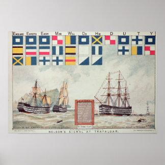 Nelson's signal at Trafalgar Poster