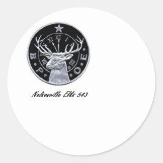 Nelsonville Elks 543 Round Sticker