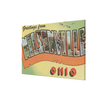 Nelsonville, Ohio - Large Letter Scenes Canvas Print