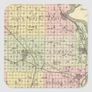 Nemaha County, Nebraska Square Sticker